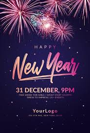 New Year Flyers Template Happy New Year Flyer Template