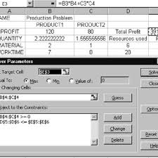 excel modeling excel modeling download scientific diagram