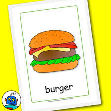 Food Flash Cards Color Food Flashcards And Cutlery Flash Cards
