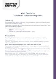 Diary Format Template Students Work Experience Diary Template