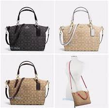 Image is loading New-Coach-F58283-F36625-Small-Kelsey-Satchel-In-