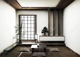 Mat Interior Design Interior Design Modern Living Room With Bonsai Tree On Table Tatami