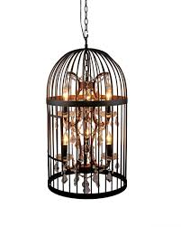 birdcage pendant light chandelier unique for convert recessed shocking photos inspirations diamond silk trump