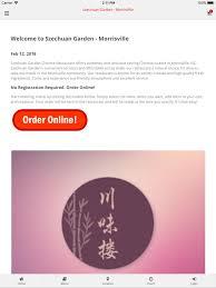 szechuan garden morrisville on the app