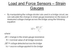 load and force sensors strain gauges