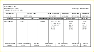 Statement Of Earnings Template Pay Statement Template Pay Stub Template Excel Sample Pay