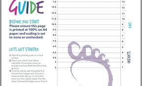 Kids Shoe Size Chart Printable Stride Rite Measure Agentless