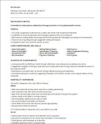 Sample Of Waitress Resume Unique 48 Sample Waiter Resumes Sample Templates