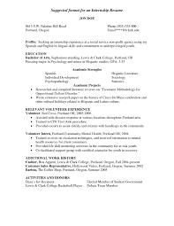 Social Work Internship Resume Free Resume Example And Writing