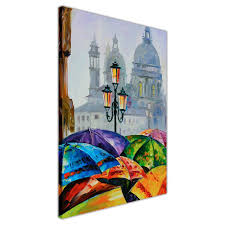 canvas wall print rainy day in venice spain by leonid afremov oil painting re printed on framed on framed canvas wall prints with rainy day in venice spain by leonid afremov oil painting re printed