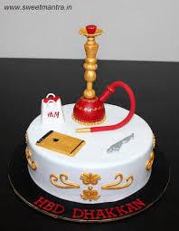 Hookah Theme Customized Designer Fondant Cake With 3d Hookah Iphone