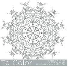 Download Mandala Coloring Pages Mandala Coloring Page Instant