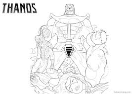 Thanos Coloring Pages With Marvel Characters Free Printable