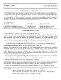 Physician Assistant Resume Tomyumtumweb Com