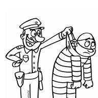 Kleurplaat Politie Betrapt Boef Op Heterdaad Kleurplaatjecom