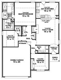 Floor Plan Modern 3 Bedroom 2 Bath Houseplans House Plans 1 Story 789