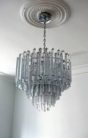mid century modern modern italian crystal venini chandelier by camer for