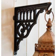 fullsize of terrific shropshire vintage design cast hanging basket wall shelf bracket decorative cast metal wall