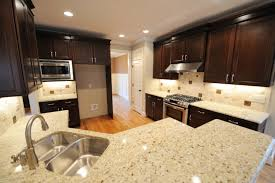 alternatives to granite countertops with solid wood kitchen cabinets for small kitchen ideas using recessed lighting