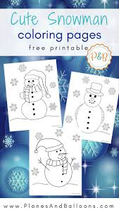 Snowman Coloring Pages For All The