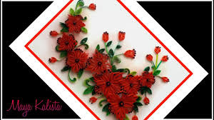 Paper Quilling Flower Frames Paper Quilling Flowers Designs Quilling Wall Frame Designs Diy