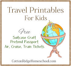 Free Passport Template For Kids Simple We're Going On A Trip Free Travel Printables Suitcase Craft