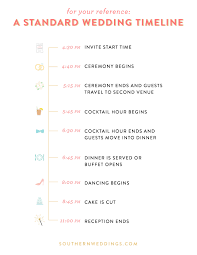 Wedding Schedule Expert Advice Creating A Wedding Day Timeline Southern Weddings