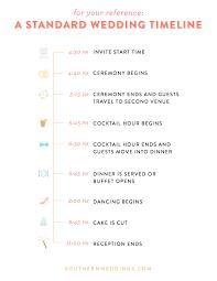 Wedding Timeline Mesmerizing Expert Advice Creating A Wedding Day Timeline Southern Weddings