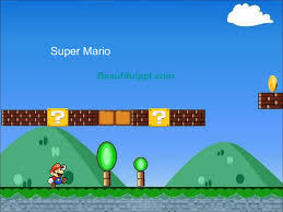 Cartoon Powerpoint Template Super Mario