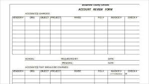 Review Forms In Excel