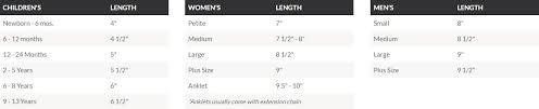 Bracelets Size Guide