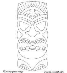Small Picture Tiki Mask Coloring Pages chuckbuttcom