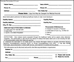 Sample Medical Records Release Form Medical Records Release Form In Pdf Format Sample