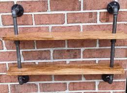 diy pallet iron pipe. Repurposed Pallet And Iron Pipe Wall Hanging Shelf Diy
