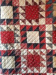 653 best Red/White/Blue Quilts images on Pinterest | Jellyroll ... & Old vintage antique indigo blue calico fabric handmade quilt cutter textile  AAFA Adamdwight.com