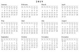 2019 Calendar Free Printable 2019 Calendar Pata Sauti