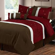 7 piece comforter set in brown red and bedding blue lavish home red and gold comforter set