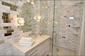 beveled tile subway and stone bathroom backsplash beveled subway tile herringbone gray