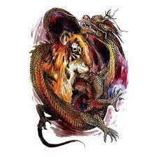 Foto hd elang vs harimau : Waterproof Temporary Tattoo Big Size Tiger Vs Dragon Diagram For Whole Back Tattoo Man Macho Necessary Tattoo Stickers Tattoo Sticker Temporary Tattoo Big Sizetattoo Big Aliexpress