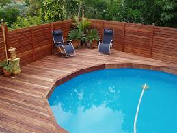 Above Ground Pool Deck Above Ground Pool With Deck Benefits Cost And