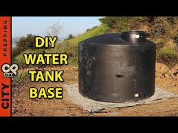 how to build an underground foundation for a water tank diy