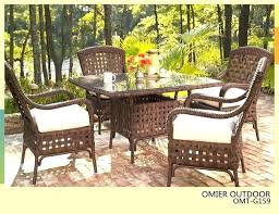 outdoor wicker dining table high top patio dining set metropolitan living rattan dining table a international