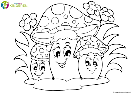 Nl Inside Herfst Kleurplaat Paddest Paddenstoel Tropicalweather