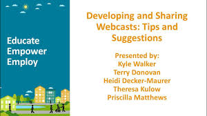 Developing and Sharing Webcasts: Tips and Suggestions - YouTube