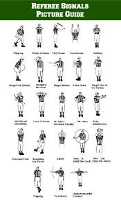 Baseball Signals Chart Referee Football Signals Picture Guide Mommy Mafia