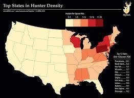Hunter Density Across The U S Qdma