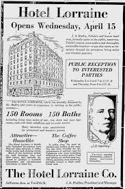 an ad from the toledo news bee of april 14 1925 trumpeting the opening of the lorraine