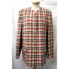 alexon 16 beige with black and red check casual jacket multi coloured