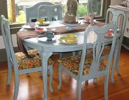 blue dining room set.  Room Pretty  Intended Blue Dining Room Set S