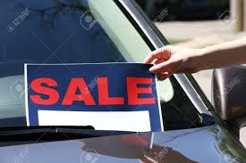 For Sale Sign On Car For Sale Sign On Windshield Of Car Stock Photo Picture And Royalty